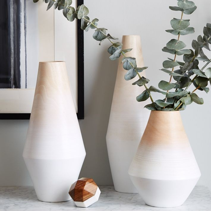 Modern ombre vases from West Elm
