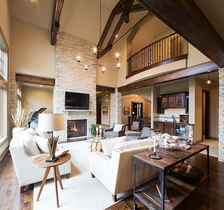 ... Modern Rustic Living Room With A Cozy, Warm Appeal [Design: Carpet  Direct Kansas