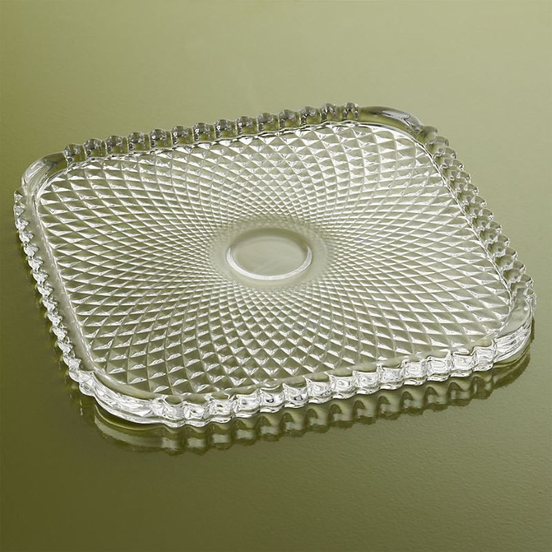 Multifaceted glass plate from CB2