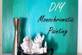 Chic Monochromatic DIY Painting With Ombre Style