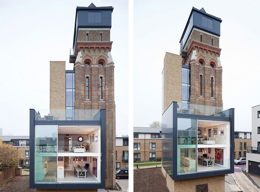 Old watertower turned into a modern home