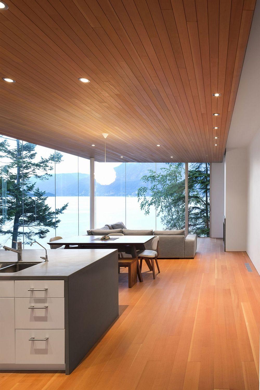 Open floor kitchen and living area