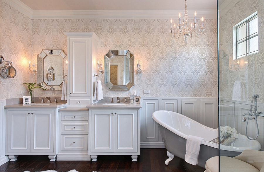 Painted standalone bathtubs are a hot trend in bathroom design [Design: Lea Biermann]