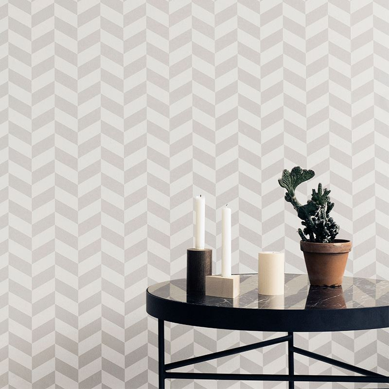 Patterned wallpaper from Ferm Living