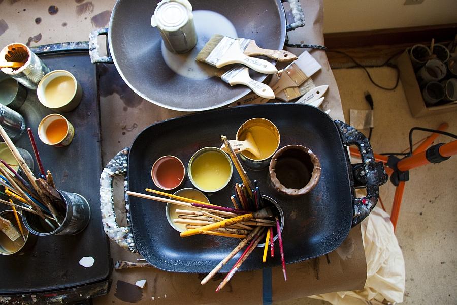 Photo-Encaustics involves a  dizzy combination of paint, bee wax and creativity!