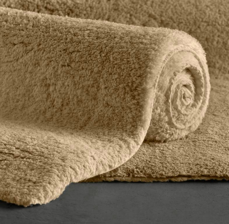 Plush bath rug from Restoration Hardware