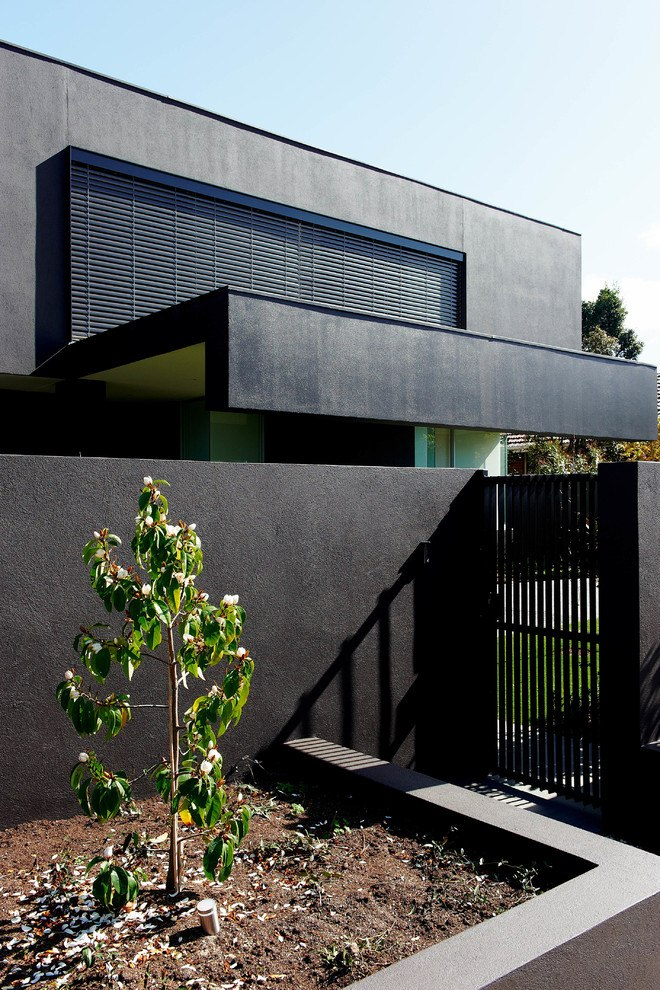 Posh modern exterior of the modern Melbourne house