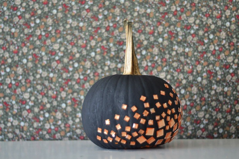 Pumpkin covered with gems