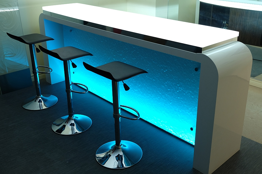 RGB lights bring unique style to your kitchen and home bar