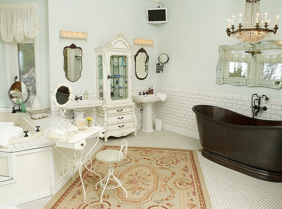 Remodeled master bathroom with a subtle feminine vibe [By: Greeson & Fast Design]