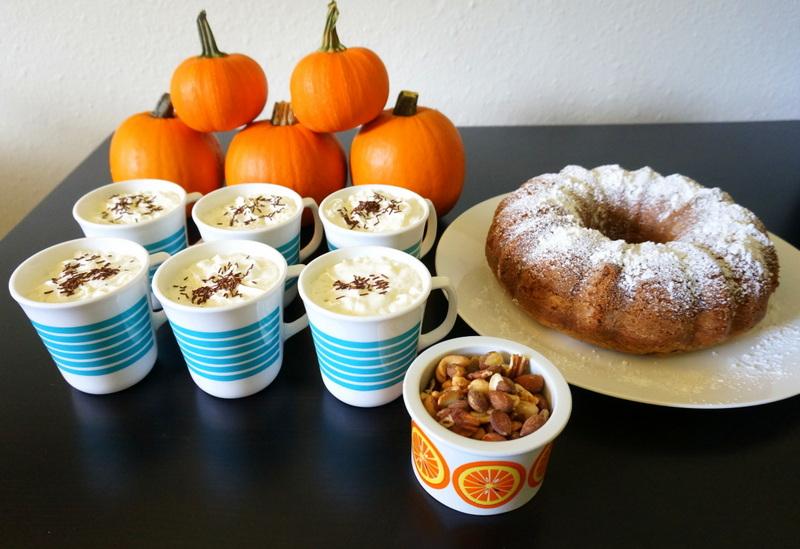 Retro fall dessert table
