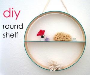 Round shelf header with text