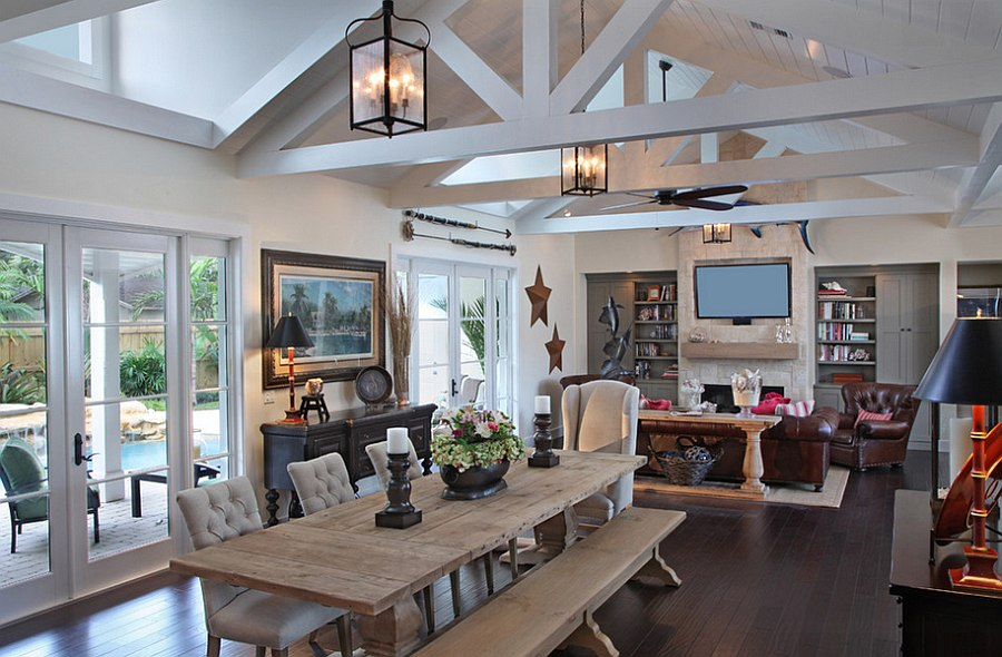 Rustic Living Room With A Touch Of Coastal Flavor Design RJS Builders