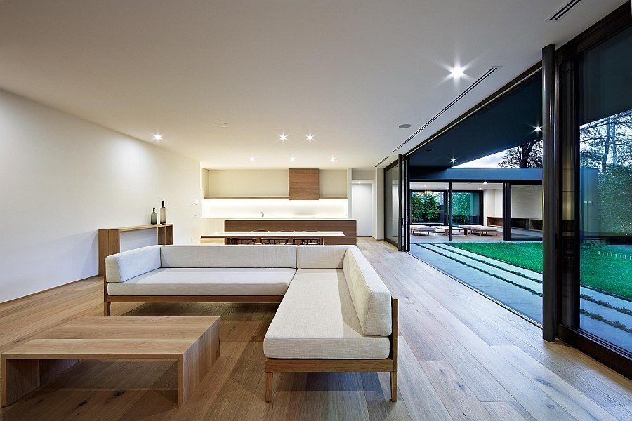 Simple and understated decor grace the interior