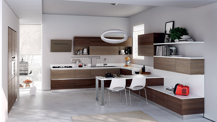 Small Straight Kitchen Design. View in gallery Simple straight lines and color scheme give the space a  refined look 12 Exquisite Small Kitchen Designs With Italian Style