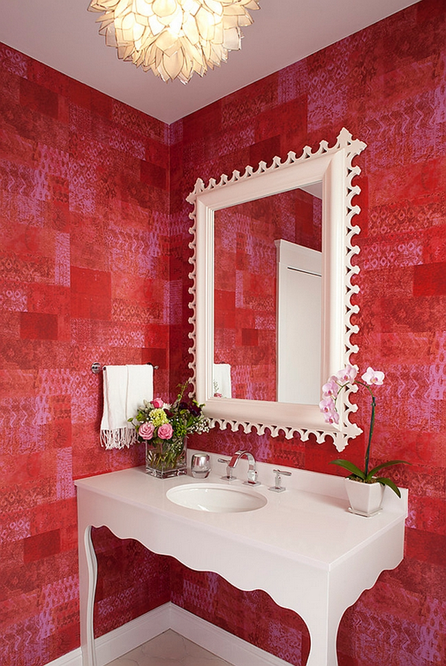 View In Gallery Simple Touches Give The Bathroom A Feminine Appeal [Design:  Artistic Designs For Living,