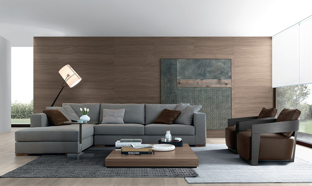 Trendy coffee table ideas for the modern minimalist for Sofa modular gris