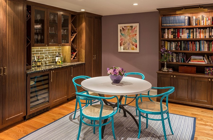 Small home bar design along with some smart seating options