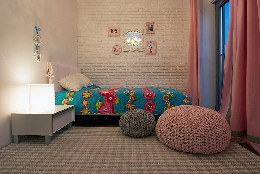 Small kids' bedroom with lovely colors
