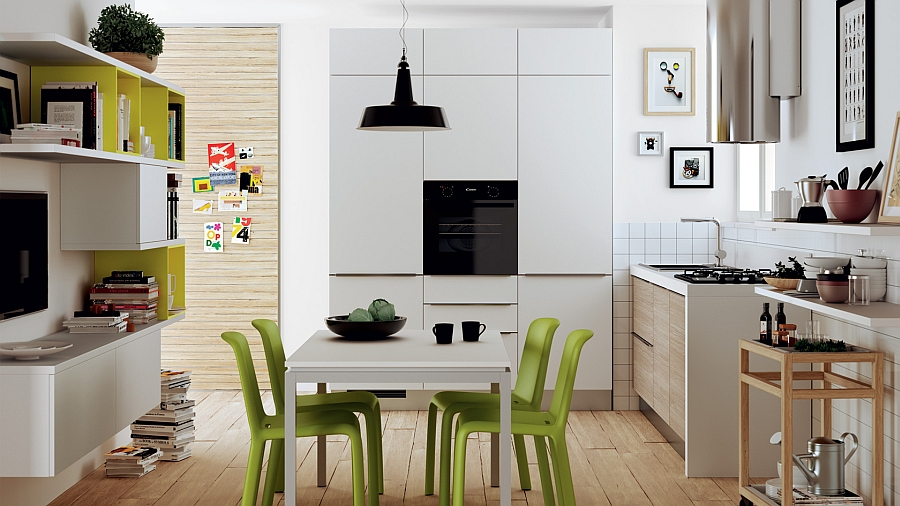 Small kitchen seems like a natural extension of the living area 12 Exquisite Small Kitchen Designs With Italian Style