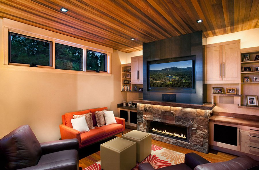 ... Small Living Room With Modern Rustic Style [Design: Ryan Group  Architects]