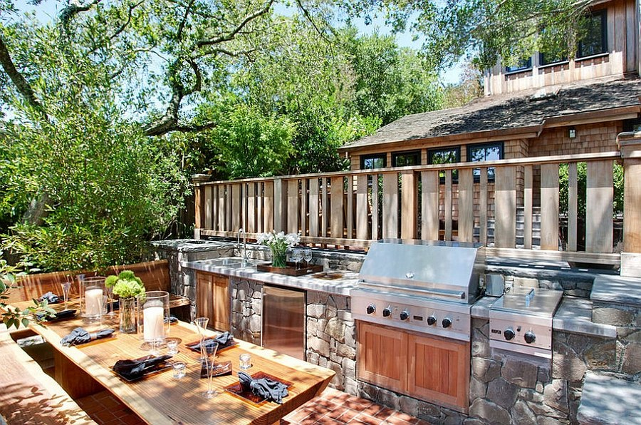 Small outdoor kitchen and dining space idea How To Design The Perfect Outdoor Kitchen That Lets You Party!