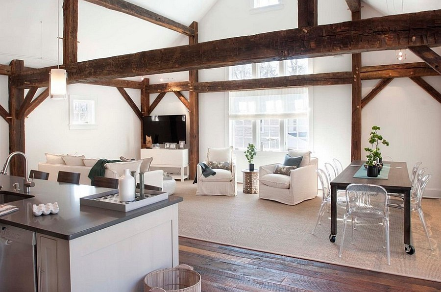 ... Smart Chic Rustic Living Room In White [Design: Arturo Palombo  Architecture]