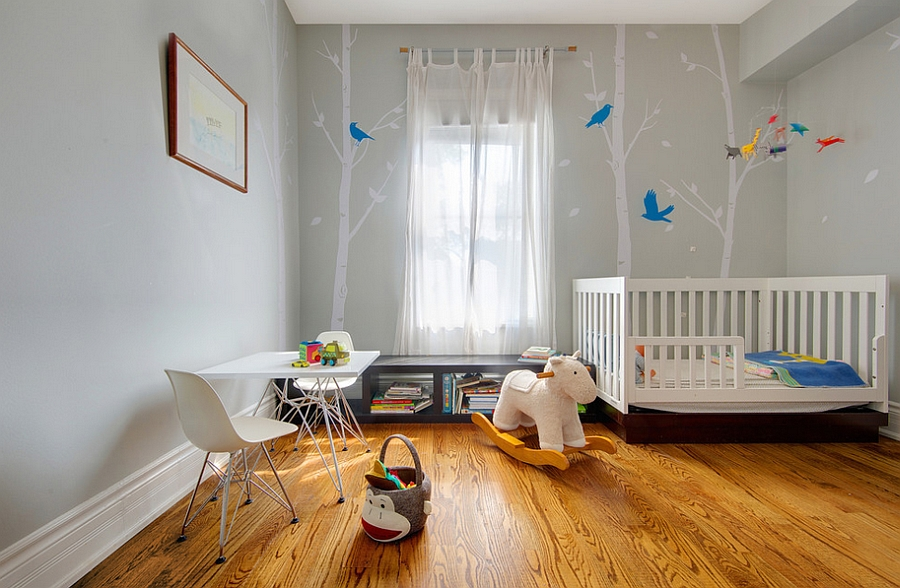 View in gallery Soothing and fun nursery color scheme [Photography: Andrew  Snow]