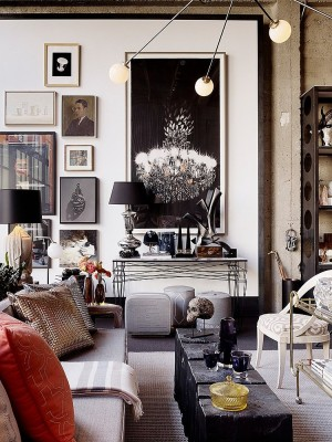 Sophisticated Halloween decorating idea for the modern home [Design: Jeffers Design Group]