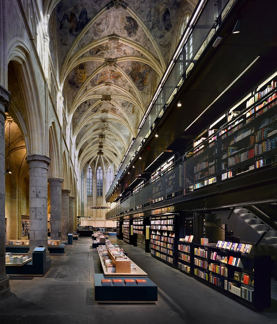Spectacular interior of the Selexyz Dominicanen Bookstore 10 Stunning Renovations That Leave You Spellbound