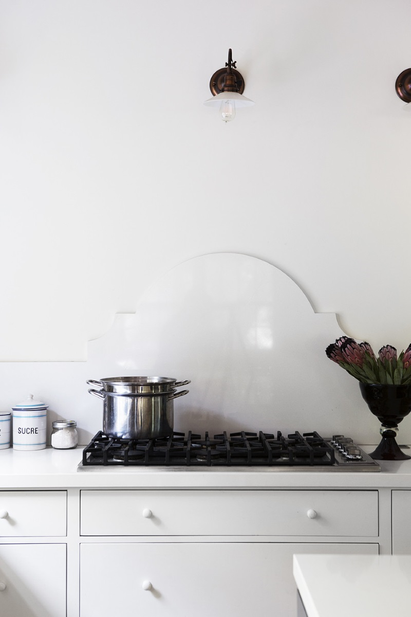 Stainless steel pot on the stove