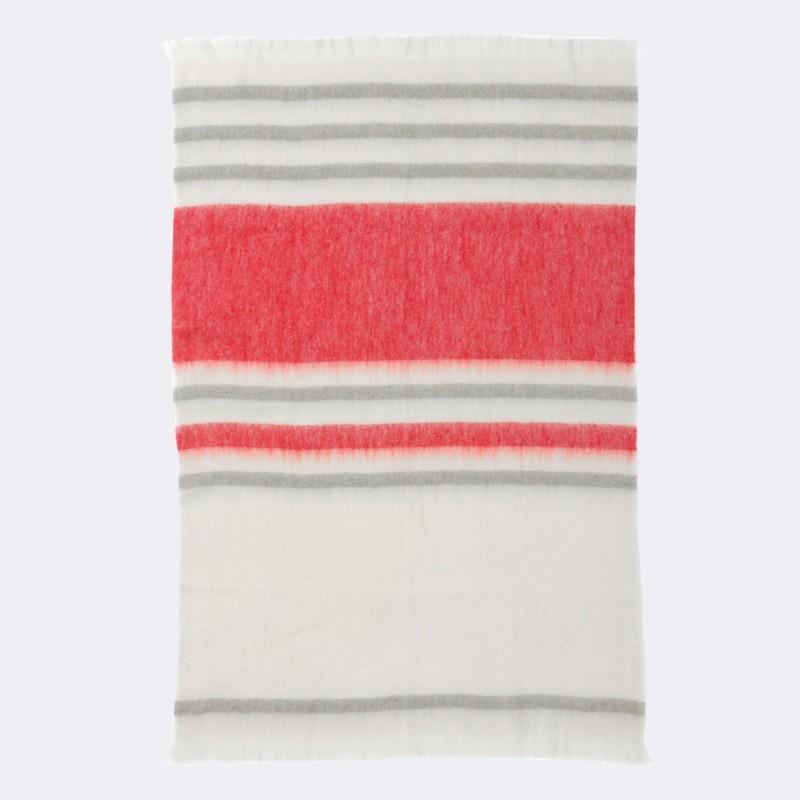 Striped mohair throw