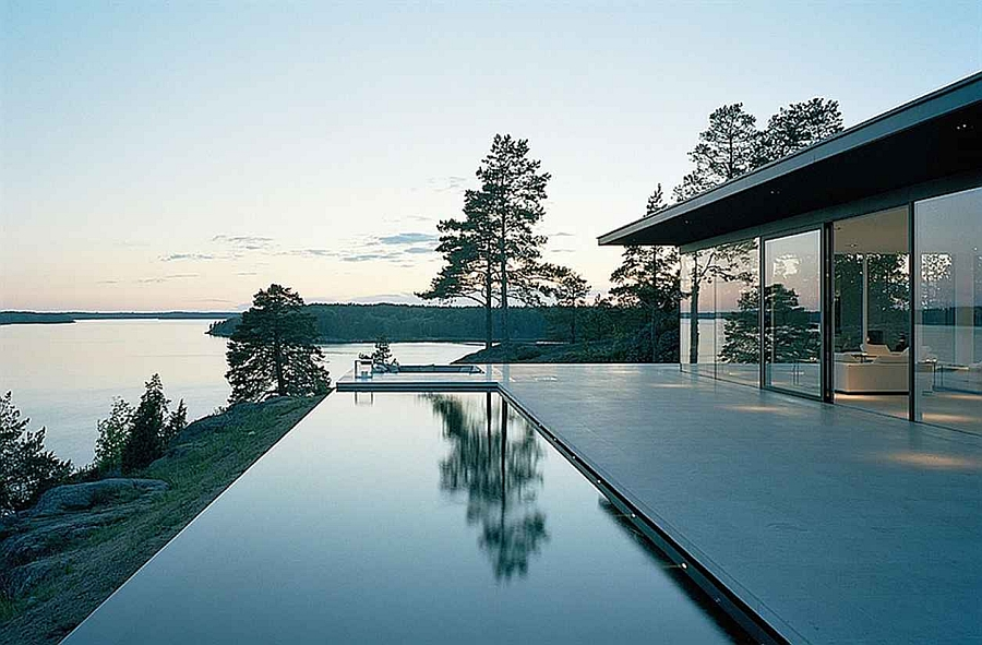 View In Gallery Stunning Lakeside Home Designed By John Robert Nilsson Gallery