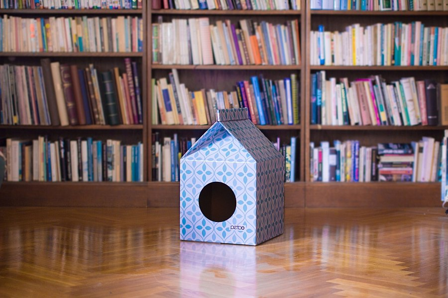Stylish and space conscious playhouse idea for your pet cat Eco Friendly Pet Playhouse With Scandinavian Style!