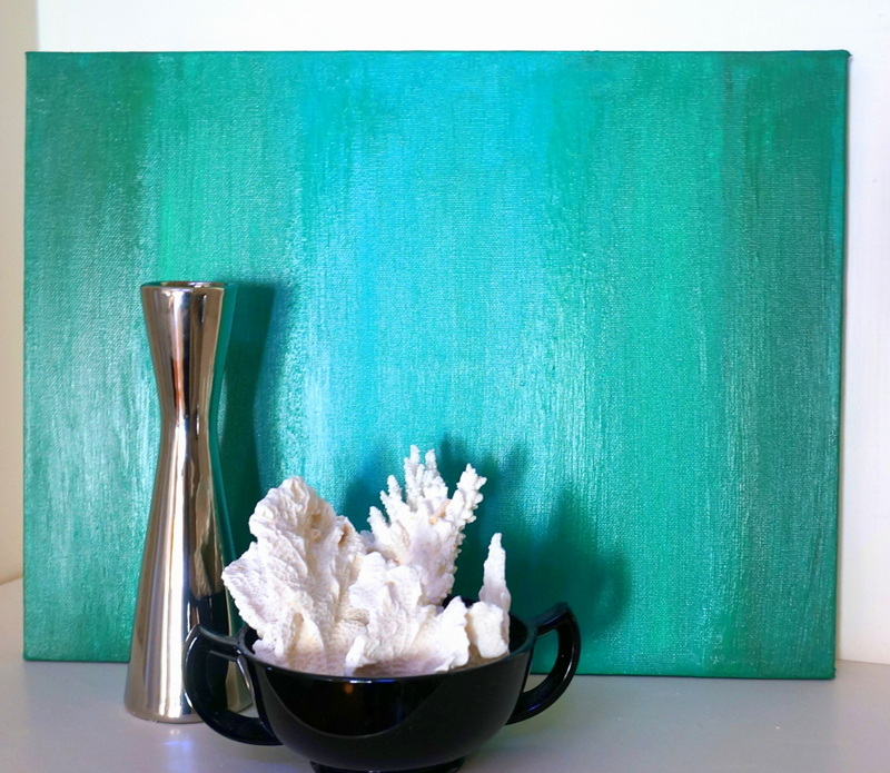 Teal canvas art