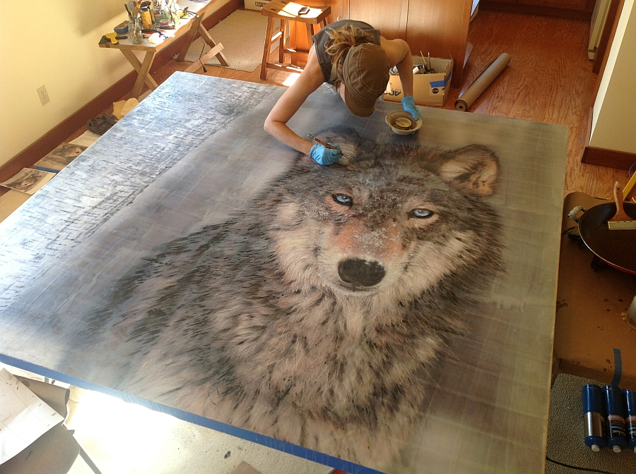 The majestic image of the wolf draws you in instantly