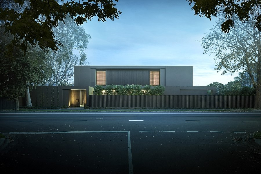 The street facade of the Bay House looks truly stunning Exquisite Melbourne Residence Is A Minimalist's Delight!
