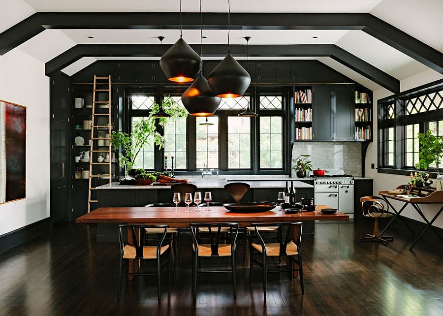 Tom Dixon pendant lights steal the show