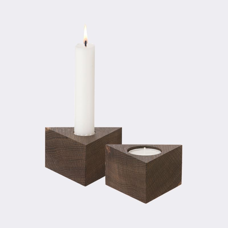 Triangular candleholders from Ferm Living