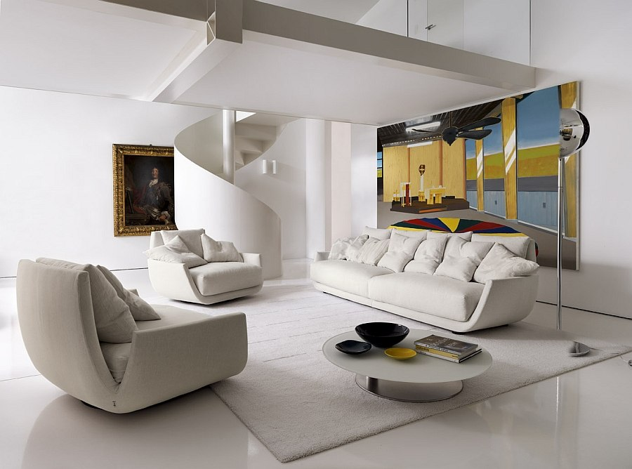 Tuliss  comfortable swiveling chairs combined with the sofa