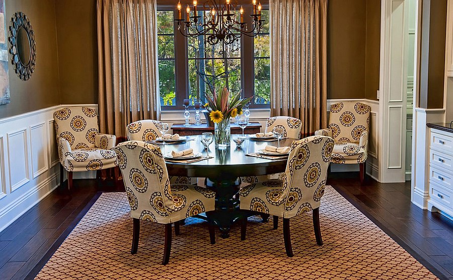 corner dining room furniture. View In Gallery Twin Chairs The Corner Add Style To Space [By: Jill Wolff Interior Dining Room Furniture