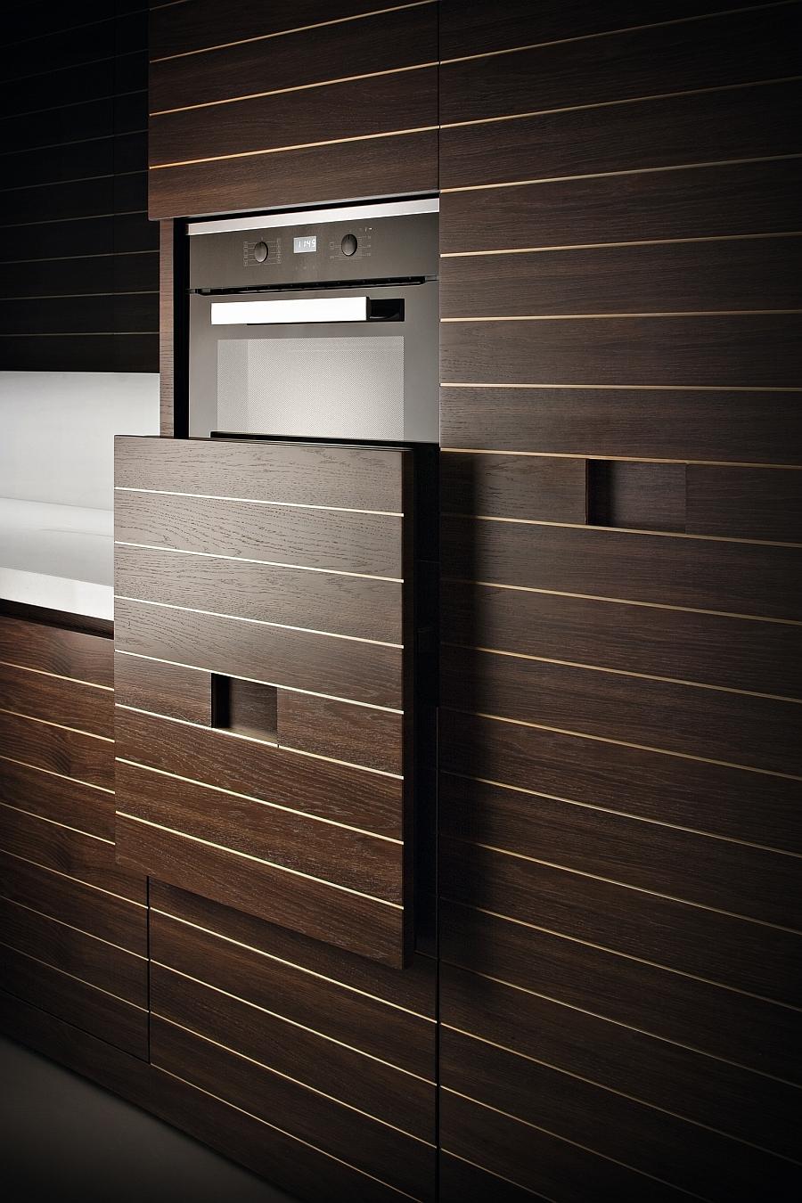 Unique vertical sliding system that hides away kitchen appliances