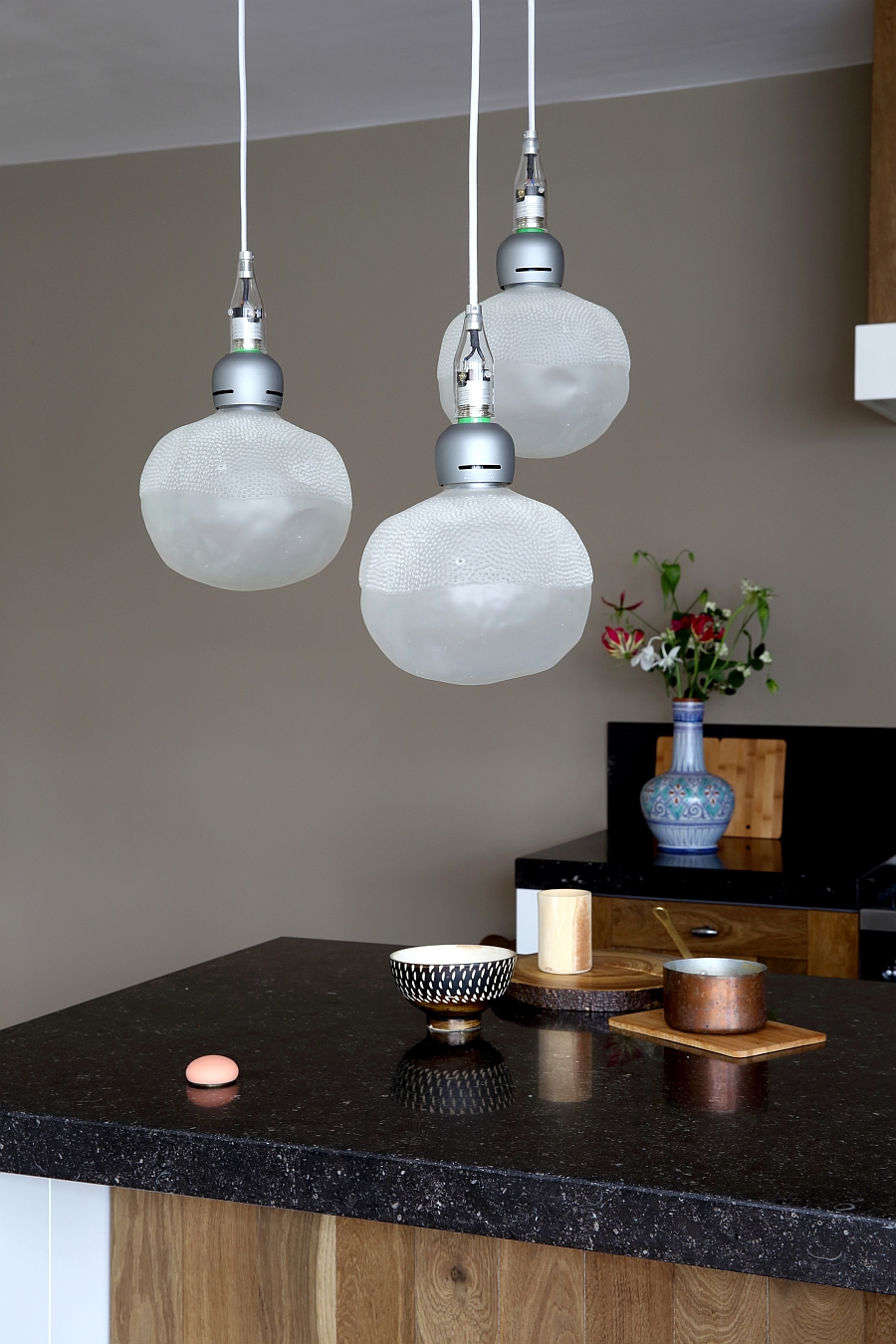 User friendly and durable rubber pendant lights from Nacho Carbonell for Booo