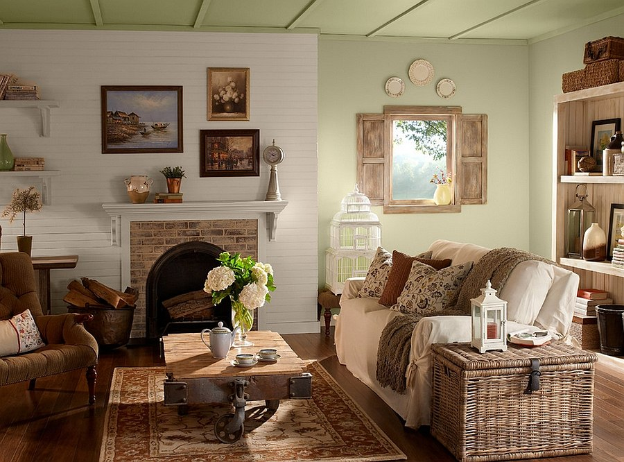 View In Gallery Varied Textures Give The Room An Exciting Look [Design:  BEHR]