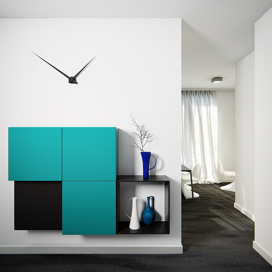 tetrees: play tetris with modular wall shelves and cabinets