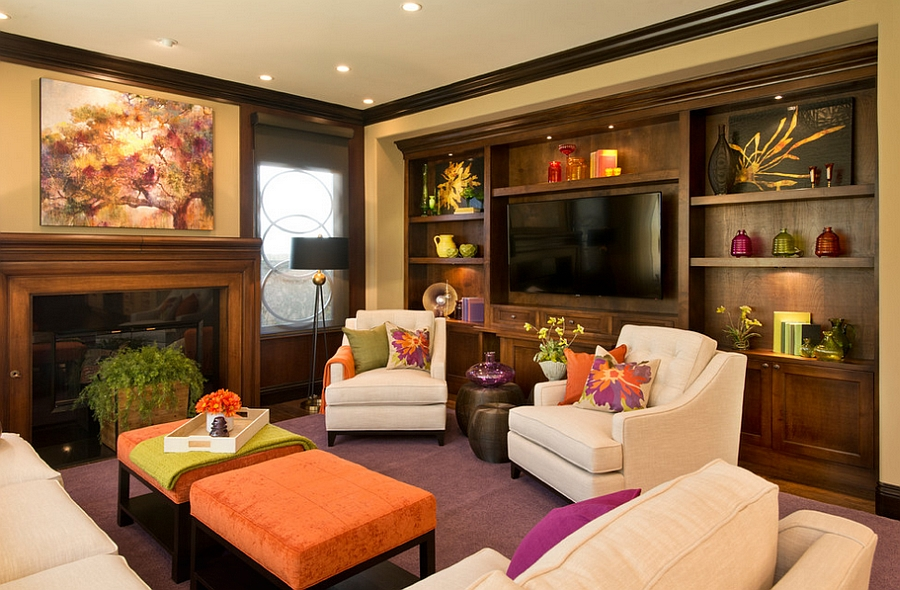 how to design a trendy fun family room