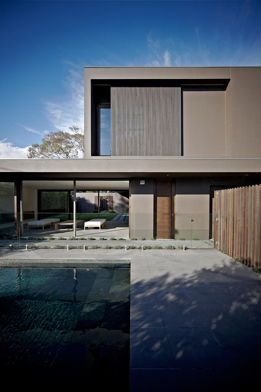 View of the stylish pool area that complements the appeal of the home