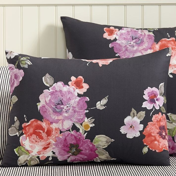 Vintage-style floral shams from Pottery Barn Teen