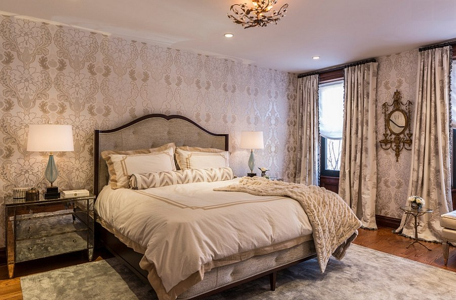 Colorful new york home with chic feminine charm for Sophisticated feminine bedroom designs