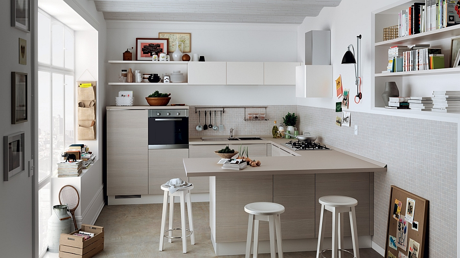12 exquisite small kitchen designs with italian style for Smart kitchen design small space